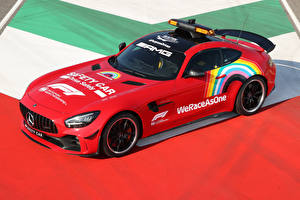 Bilder Mercedes-Benz Tuning Rot 2020 AMG GT R F1 Safety Car automobil