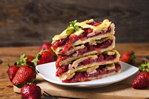 Wallpaper Pie Strawberry Piece Food