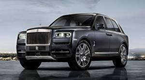 Wallpapers Rolls-Royce Luxury Crossover Grey Cullinan, 2018 Cars
