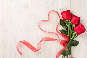 Fotos & Bilder Rosen Valentinstag Herz Bretter Vorlage Grußkarte Blumen