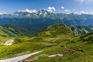 Fonds d'écran Russie Montagnes Mount Chugush