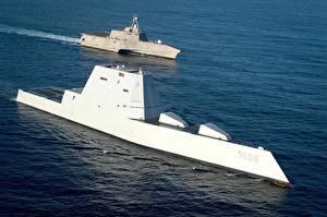 Desktop wallpapers Ship US USS Independence (LCS 2), USS Zumwalt(DDG 1000) Army