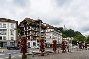 Image Switzerland Building Street Lucerne