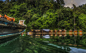 Image Thailand Parks Lake Forest HDR Cheow Lan Lake Khao Sok National Park