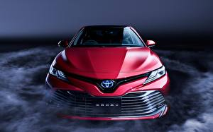 Image Toyota Front Red Camry Sight XV70 Cars