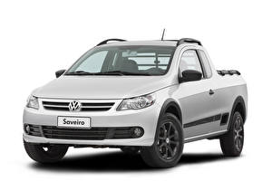 Wallpapers Volkswagen Pickup Silver color Metallic White background  automobile