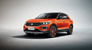 Fotos Volkswagen Crossover Metallisch Orange T-Roc 4MOTION, China, 2018- auto