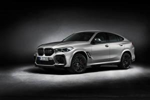 Обои BMW Серебристый X6 M Competition 'First Edition', (F96), 2020 Автомобили картинки