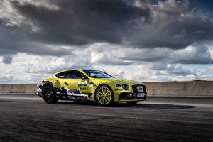 Обои Bentley Облака Сбоку Continental GT Pikes Peak, 2019 Автомобили картинки