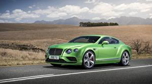 Picture Bentley Coupe Luxurious Green Continental GT Speed, 2015 automobile