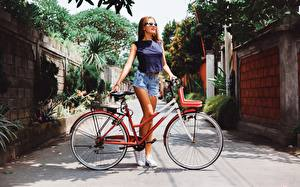 Image Bicycle Shorts Glasses Girls