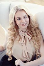 Bilder Blondine Starren Haar junge Frauen