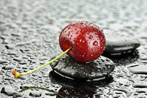 Bureaubladachtergronden Kers fruit Close-up Stenen Druppels Voedsel