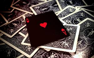 Tapety na pulpit Z bliska Karty do gry As karta Czarny