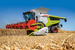 Wallpapers Combine harvester Fields Agricultural machinery Claas Lexion 7700, 2019-