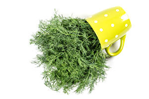 Photo Dill White background Mug Food
