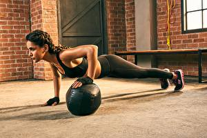 Wallpaper Fitness Plank (exercise) Physical exercise Gym Aisha Sharma young woman Sport