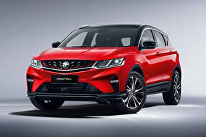 Pictures Geely Crossover Red Metallic Proton X50, 2020 automobile