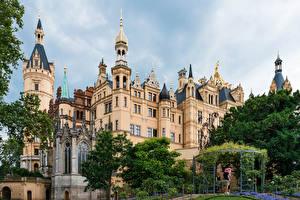 Desktop hintergrundbilder Deutschland Burg Design Schwerin castle Städte
