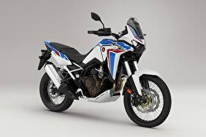 Photo Honda - Motorcycles Gray background CRF 1000 D AFRICA TWIN, 2020