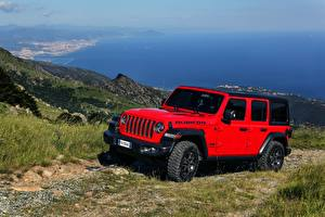 Bilder Jeep SUV Rot 2018-20 Wrangler Unlimited Rubicon Autos