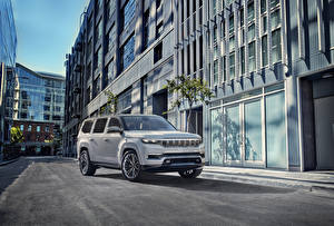 Fotos Jeep SUV Grau 2020 Grand Wagoneer Concept Autos
