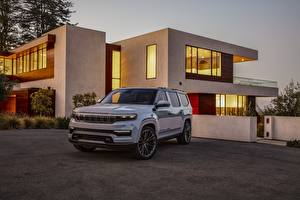 Pictures Jeep Sport utility vehicle Metallic White 2020 Grand Wagoneer Concept