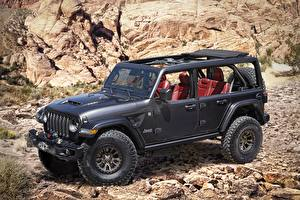 Wallpapers Jeep SUV Black 2020 Wrangler Rubicon 392 Concept