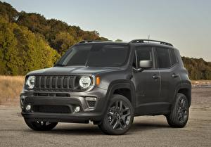 Hintergrundbilder Jeep Sport Utility Vehicle Graue 2021 Renegade 80th Anniversary auto
