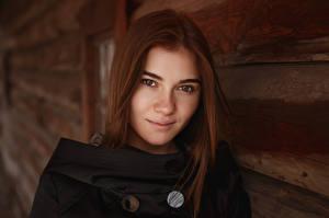 Photo Viacheslav Krivonos Model Brown haired Glance Hair Face Kate Girls