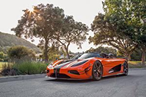 Bilder Koenigsegg Orange Agera XS automobil