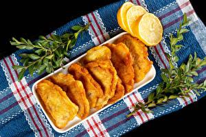桌面壁纸,,柠檬,枝,fish in batter,食品