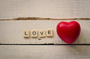 Fondos de escritorio Amor Corazón Palabra Inglés Tablones de madera