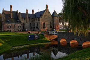 Pictures Netherlands Castles Rivers Bridges Castle Radboud. Medemblik
