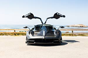 Wallpapers Pagani Reinforced polymer plastic Opened door Front Italia Huayra auto