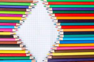 Desktop hintergrundbilder Bleistifte Bunte Vorlage Grußkarte