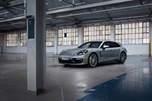 Pictures Porsche Metallic Silver color Panamera 4 E-Hybrid Sport Turismo, 2020