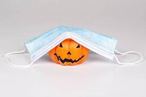 Wallpapers Pumpkin Coronavirus Masks Halloween