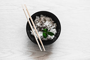 Photo Rice Plate Chopsticks Bowl Food