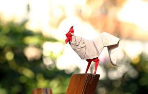 Fotos Hahn Origami Bokeh Papier
