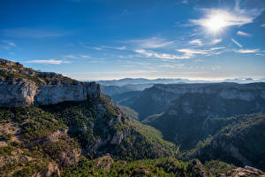 Wallpaper Spain Mountains Sky Rock Catalonia