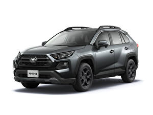 Pictures Toyota Gray Metallic White background RAV4 Adventure, Offroad Package, JP-spec, 2020 automobile