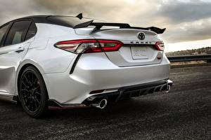 Image Toyota Back view White Sedan TRD Camry 2020 Cars