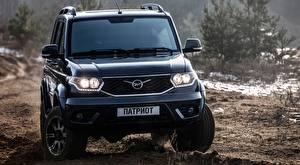 Photo UAZ Black Front Sport utility vehicle Patriot, World of Tanks Edition, 2016 automobile
