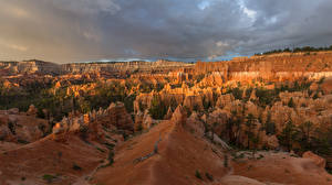 Wallpapers USA Park Canyon Cliff Bryce Canyon National Park Nature
