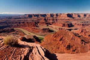 Hintergrundbilder Vereinigte Staaten Parks Fluss Canyons Colorado River, Canyonlands National Park Natur