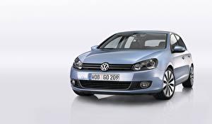 Bureaubladachtergronden Volkswagen Metallic Vooraanzicht  auto's