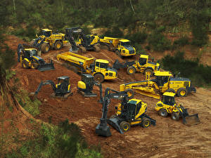 Desktop hintergrundbilder Volvo Technik Lastkraftwagen Bagger Radlader  auto