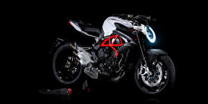 Papel de Parede Desktop Fundo preto Lateralmente 2012-20 MV Agusta Brutale 800 motocicletas
