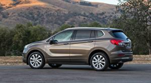 Hintergrundbilder Buick Seitlich Softroader Asphalt Envision, 2016 Autos